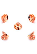 www.sayila.com - Metal look caps with eye 10x7mm voor bead 13-15mm (± 20 st.) - D34483