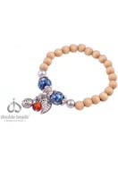 www.sayila.fr - DoubleBeads Creation kit de bijoux bracelet avec perles de bois,  en pierre fine Agate, de métal et accessoires (inclusivement mode d'emploi) - DA00001