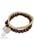www.sayila.nl - DoubleBeads Creation sieradenpakket armband met houten, kunststof kralen metal look en metalen hangers/bedels (inclusief handleiding)