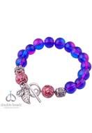www.sayila.fr - DoubleBeads Creation kit de bijoux bracelet avec perles de verre, nacre, métal et pendentif/breloque de métal (inclusivement mode d'emploi) - DA00012