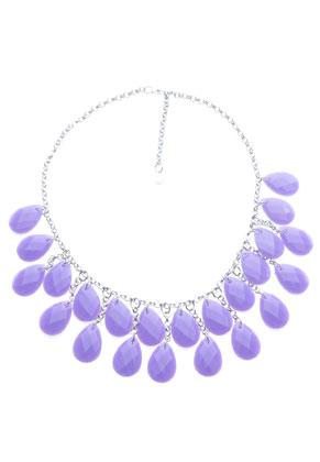 www.sayila.fr - DoubleBeads Creation kit collier de métal avec pendentifs/breloques de matière synthétique, goutte avec facettes (inclusivement mode d'emploi)