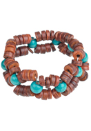 www.sayila.com - DoubleBeads Creation jewelry kit bracelet with wooden beads (including instructions) - DA00023