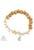 www.sayila.nl - DoubleBeads Creation Mini sieradenpakket armband met houten en natuursteen kralen Citrine