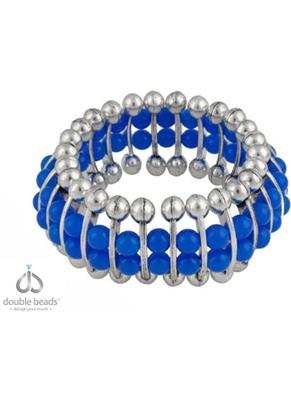 www.sayila-perlen.de - DoubleBeads Creation Mini Schmuckpaket Armband mit Kunststoffperlen und Metallzwischenstücke/Verteiler