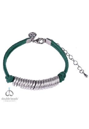 www.sayila.nl - DoubleBeads Creation Mini sieradenpakket kunstsuède armband met metalen ringetjes