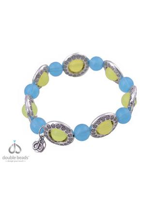 www.sayila-perlen.de - DoubleBeads Creation Mini Schmuckpaket Armband mit Kunststoff und Metallperlen