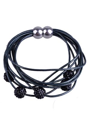 www.sayila.nl - DoubleBeads Creation Mini sieradenpakket leren armband met polymeeerklei kralen en magnetische sluiting (waarschuwing: niet voor mensen met een pacemaker)
