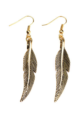 www.sayila.com - DoubleBeads Creation Mini jewelry kit metal earrings feather