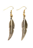 www.sayila.com - DoubleBeads Creation Mini jewelry kit metal earrings feather - DE00159