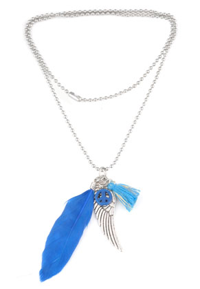 www.sayila.nl - DoubleBeads Creation Mini sieradenpakket metalen halsketting met hangers 60cm