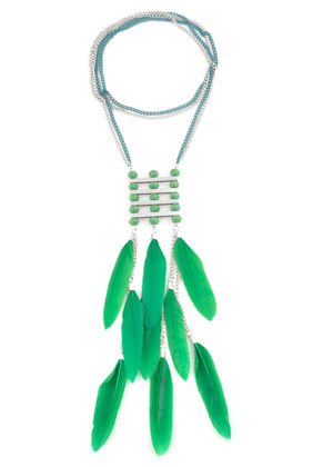 www.sayila.com - DoubleBeads Creation Mini jewelry kit necklace with feathers