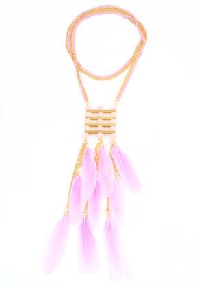 www.sayila.fr - DoubleBeads Creation Mini kit de bijoux collier avec plumes