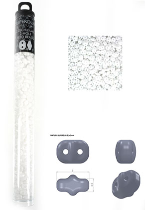 www.sayila.com - Superduo Czech glass seed beads with 2 holes 5x2,5mm (320 pcs.)