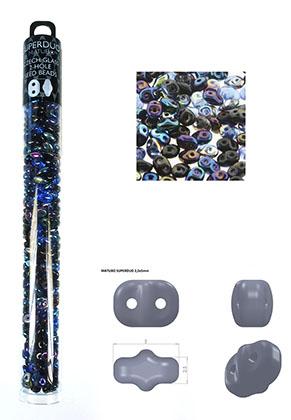 www.sayila.es - Mezcla de Superduo rocailles de vidrio Checa 2 huecos 5x2,5mm (320 pzs.)