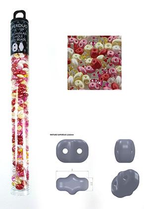 www.sayila.nl - Mix Superduo Tsjechische glas rocailles met 2 gaten 5x2,5mm (320 st.)