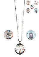 www.sayila.nl - Halsketting met DoubleBeads EasySwitch hanger en 3 stenen 80cm - E00082