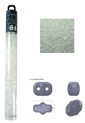 www.sayila.nl - Superduo Tsjechische glas rocailles met 2 gaten 5x2,5mm (290 st.)