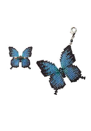www.sayila.nl - Miyuki sieradenpakket brochespeld vlinder Papillon Motif Kit BFK-347
