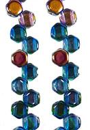 www.sayila-perlen.de - Honeycomb Tschechisches Glasperlen mit 2 Löcher 6x3mm (30 St. pro Schnur) - E00183