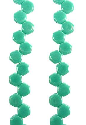 www.sayila.nl - Honeycomb tsjechische glaskralen met 2 gaten 6x3mm (30 st. per streng)