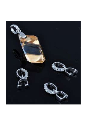 www.sayila.com - 925 Silver clip for pendant with cubic zirconia 16x6mm