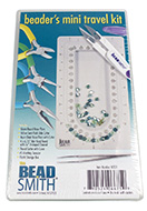 www.sayila.com - Beadsmith beader's mini travel kit with round nose pliers, chain nose pliers, side cutter pliers, bead board and more 17,5x10,5cm - E00244