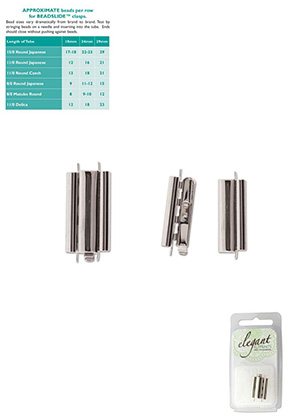 www.sayila.com - Metal Elegant Elements slide end tube clasp 24x10mm