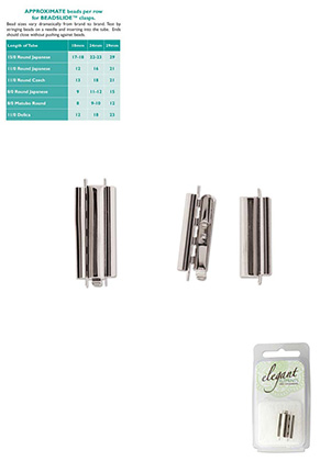www.sayila.com - Metal Elegant Elements slide end tube clasp 29x10mm