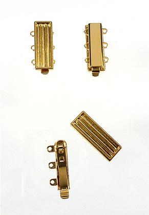 www.sayila.com - Metal 11/0 Delica clasp with 3 eyes 22x10mm