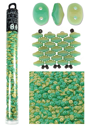 www.sayila.com - Superduo Duets Czech glass seed beads with 2 holes 5x2,5mm (320 pcs.)