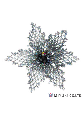 www.sayila.com - Miyuki jewelry kit brooch BFK-103 Grace Brooch