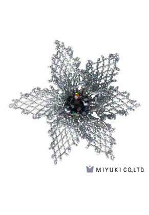 www.sayila.fr - Miyuki kit de bijoux broche BFK-103 Grace Brooch