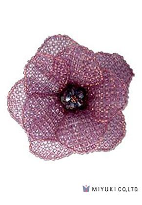 www.sayila.fr - Miyuki kit de bijoux broche BFK-104 Misty Purple Corsage