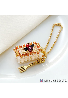 www.sayila.co.uk - Miyuki jewelry kit charm cake Sweets Charm No. 19 Mille-feuille