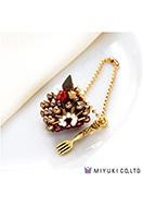 www.sayila.fr - Miyuki kit de bijoux pendentif gâteau Sweets Charm No. 23 Mocha Roll Cake - E00428