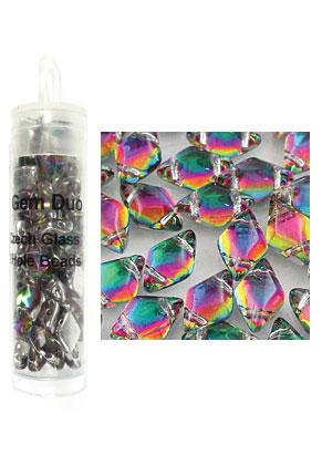 www.sayila.es - Gemduo abalorios de vidrio Checa con 2 agujeros 8x5mm (± 55 st.)