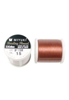 www.sayila-perlen.de - Miyuki Beading Thread/ Nylonfaden MNT-15, 330dtex 0,2mm (50m pro Rolle)