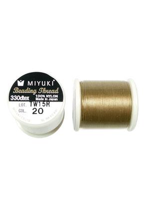 www.sayila.nl - Miyuki Beading Thread/ nylondraad MNT-20, 330dtex 0,2mm (50m per rol)