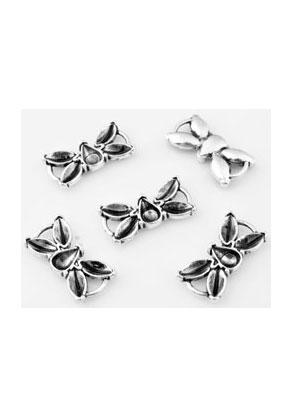 www.sayila-perlen.de - Metall Anhänger/Zwischenstücke Schmetterling 20x10mm mit Fassung für SWAROVSKI ELEMENTS Similisteine