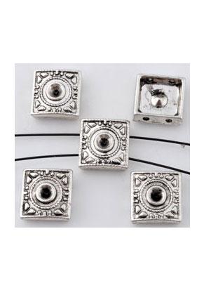 www.sayila-perlen.de - Metall Verteiler Quadrat 10mm mit Fassung für 3mm Similistein