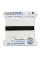 www.sayila.be - Griffin NylonPower parelzijde met naald No. 0, 0,3mm dik - E00717