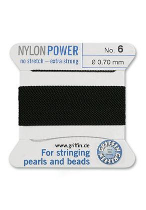 www.sayila-perlen.de - Griffin NylonPower Perlseide mit Nadel No. 6, 0,7mm dick
