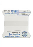 www.sayila.be - Griffin NylonPower parelzijde met naald No. 1, 0,35mm dik - E00725