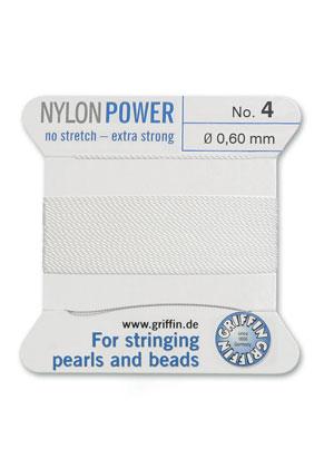 www.sayila.fr - Griffin NylonPower soie perle aved aiguille No. 4, 0,6mm d'épaisseur