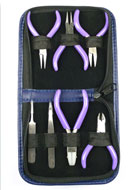 www.sayila.com - Beadsmith 7-pc miniature tool set/set of pliers - E00737
