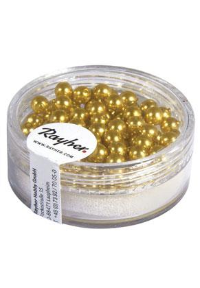 www.sayila-perles.be - Rayher Renaissance perles en verre ronde 4mm (± 85 pcs.)