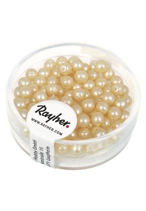 www.sayila-perlen.de - Rayher Renaissance Glasperlen matt rund 4mm (± 85 St.)