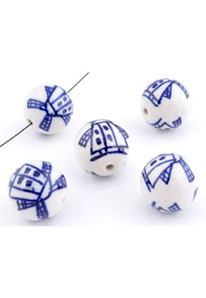 www.sayila-perlen.de - Keramik Perlen rund mit Mühle 20mm