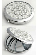 www.sayila.com - Metal pocket-mirror with epoxy and strass 77x70mm - E00791