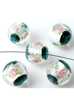 www.sayila.nl - Italian style glaskralen rond 18x16mm